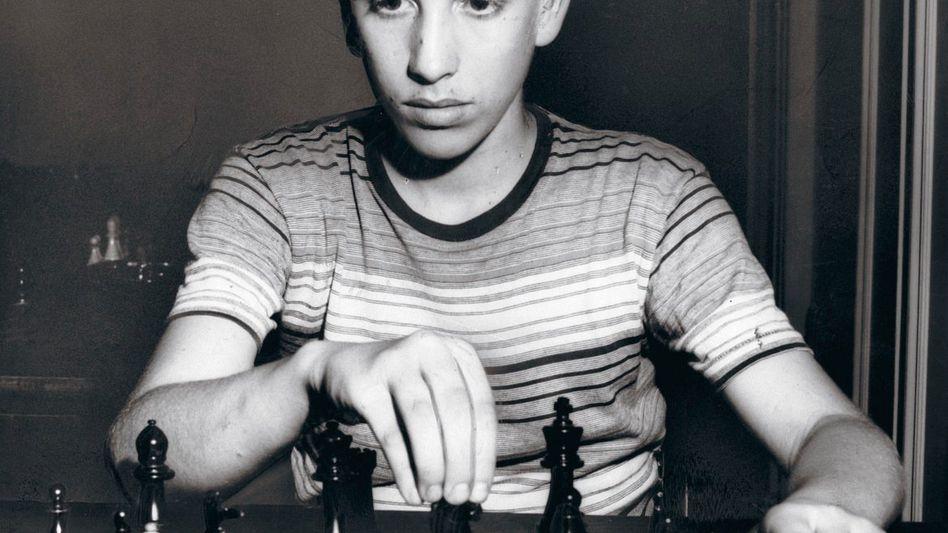 Schachtalent Fischer 1957 als 14-Jähriger