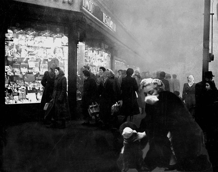 London im Nebel Anfang Dezember 1952