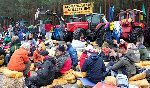 Atomkraftgegner in Gorleben: Protest gegen einen Castor-Transport