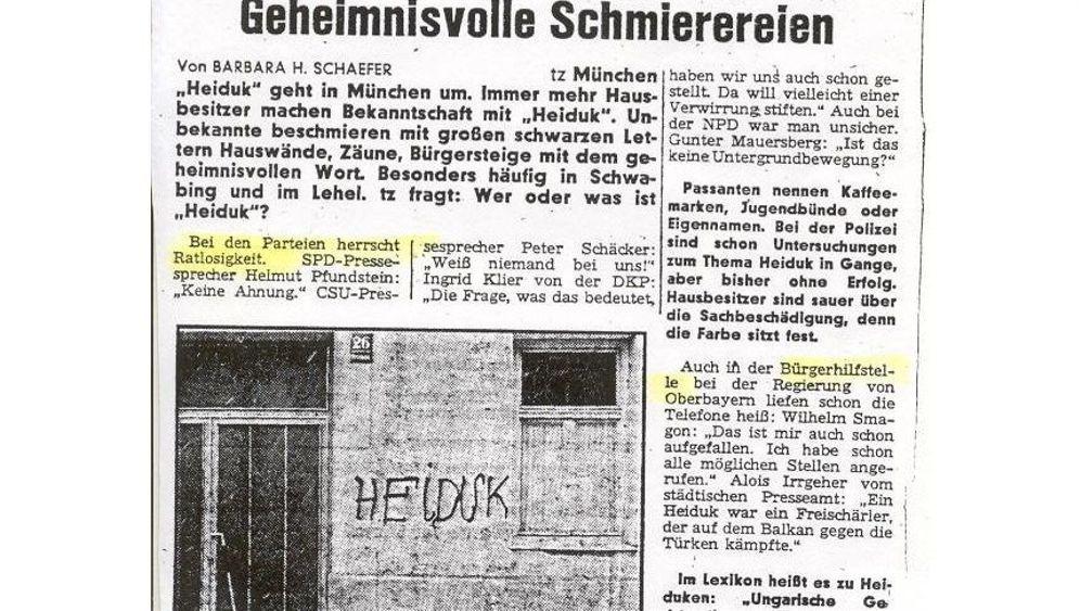 Frühe Graffiti: Als die Münchner ratlos waren