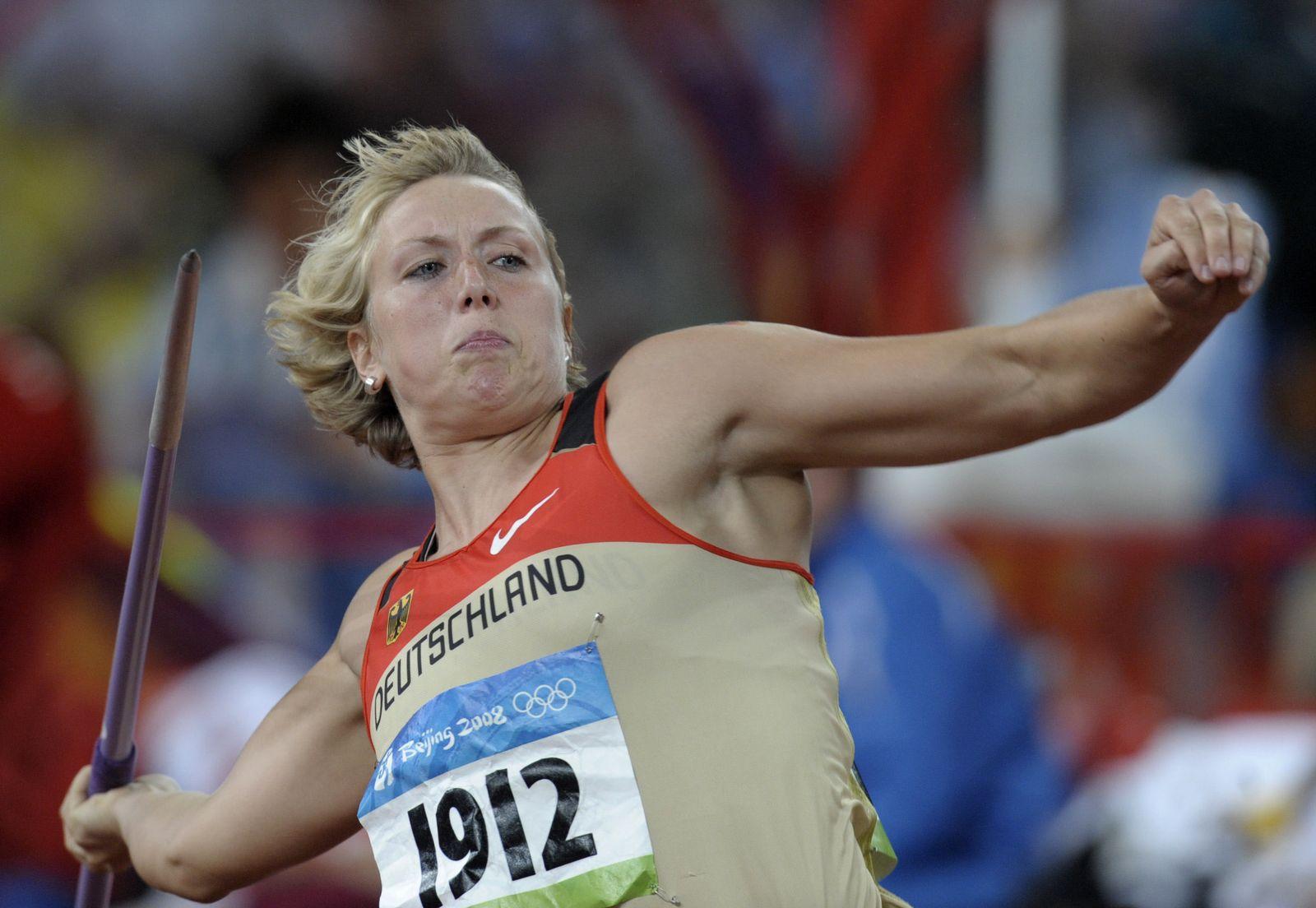 Beijing Olympics Athletics Womens Javelin