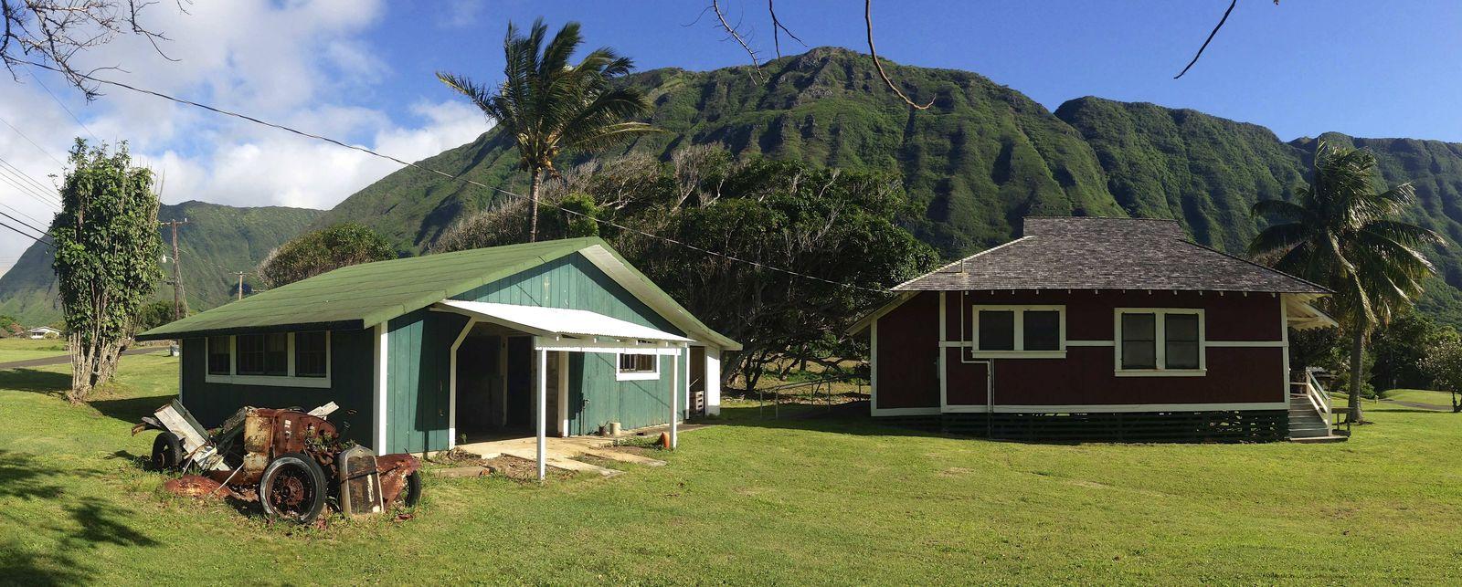 Oct 18 2015 Kalaupapa United States of America Kenso Seki House typical of Hawaiian Plantati