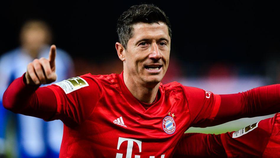 Robert Lewandowski vom FC Bayern: Von Platz eins weit entfernt