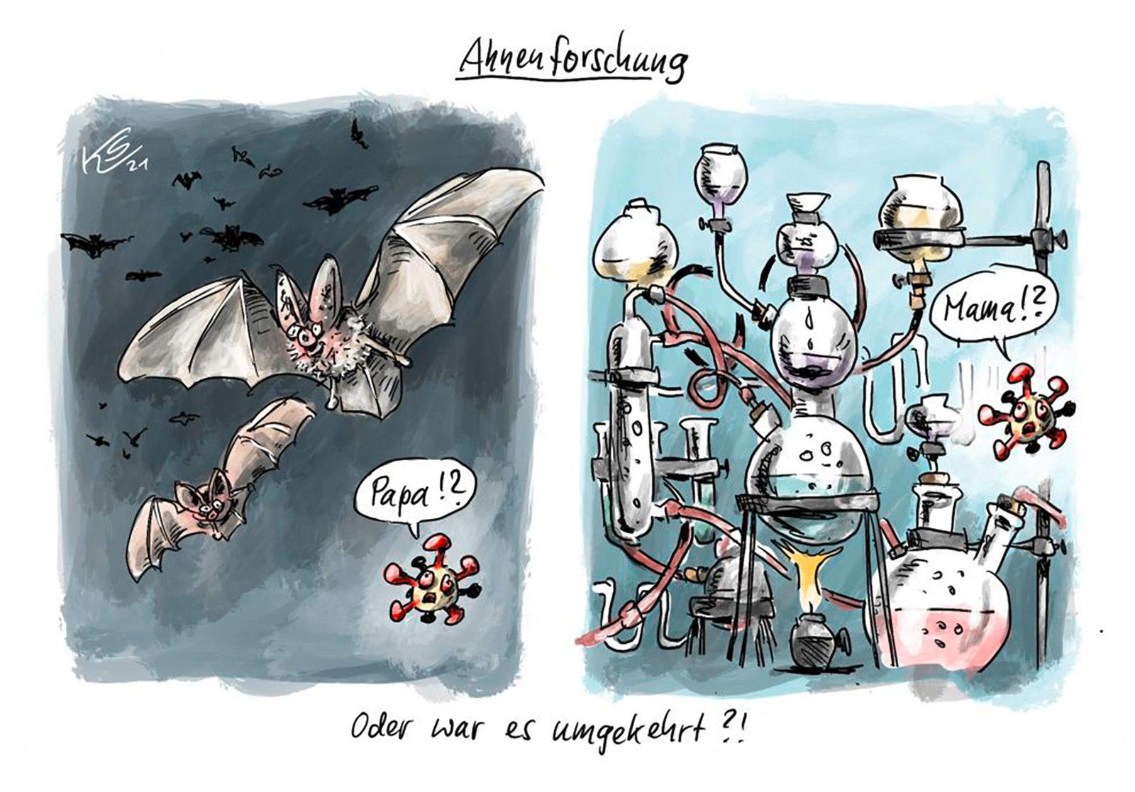 Ahnenforschung Cartoon 31-05-21