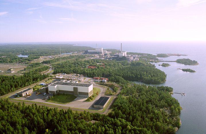 Das Kraftwerk Oskarshamn an der schwedischen Ostseeküste