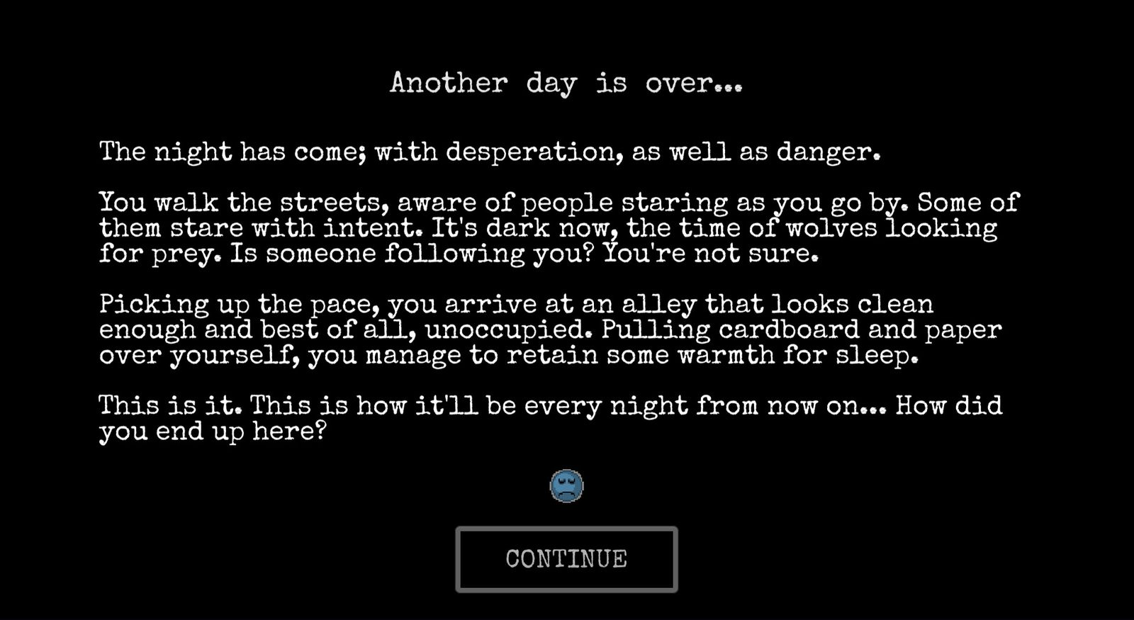Videospiel / Change: A Homeless Survival Experience