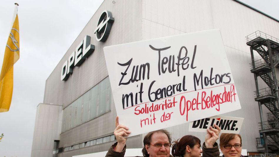 """Opelaner-Proteste gegen GM: """"Spiel mit dem Feuer"""""""