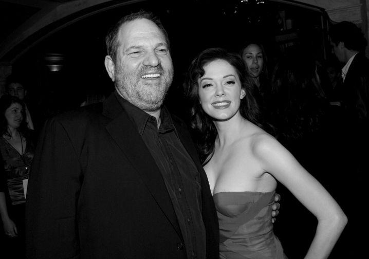 Filmproduzent Weinstein, Darstellerin McGowan 2007: Im Revolutionsmodus
