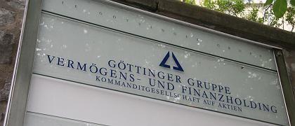 Die Firmenzentrale der Göttinger Gruppe: Inzwischen ist nur noch der Anrufbeantworter zu erreichen, der die Bürozeiten durchgibt