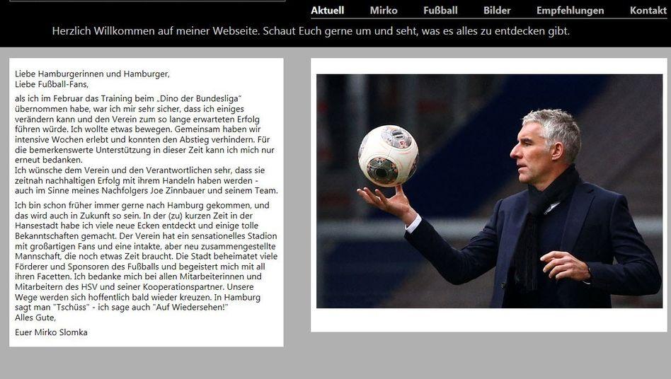 """Ex-HSV-Trainer Slomka: """"Ich wollte was bewegen"""""""