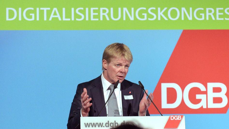 DGB-Chef Reiner Hoffmann: Chancen nutzen, Risiken kontrollieren