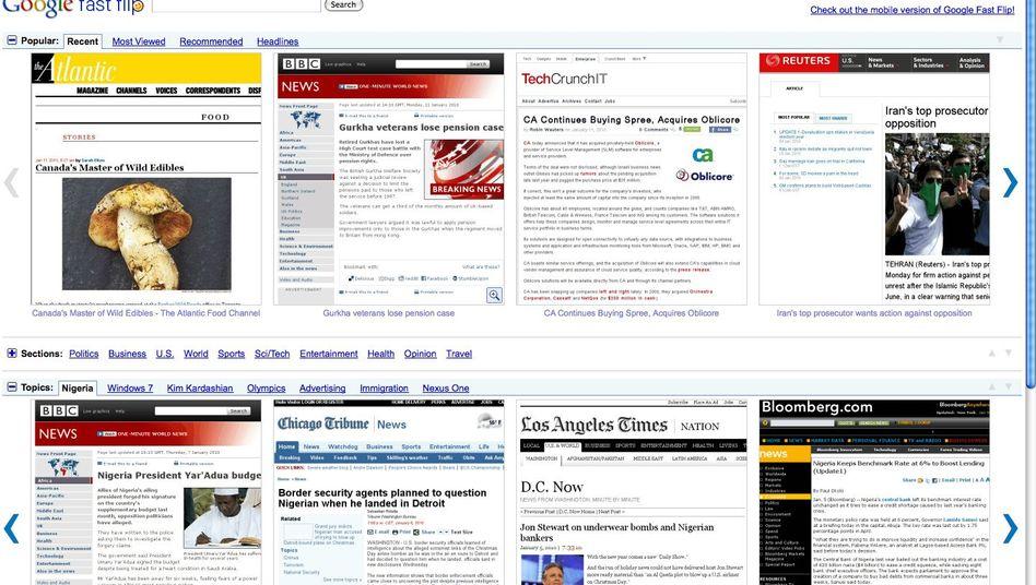 Flippig: Mit fast flip gibt's die Nachrichten-Vorschau