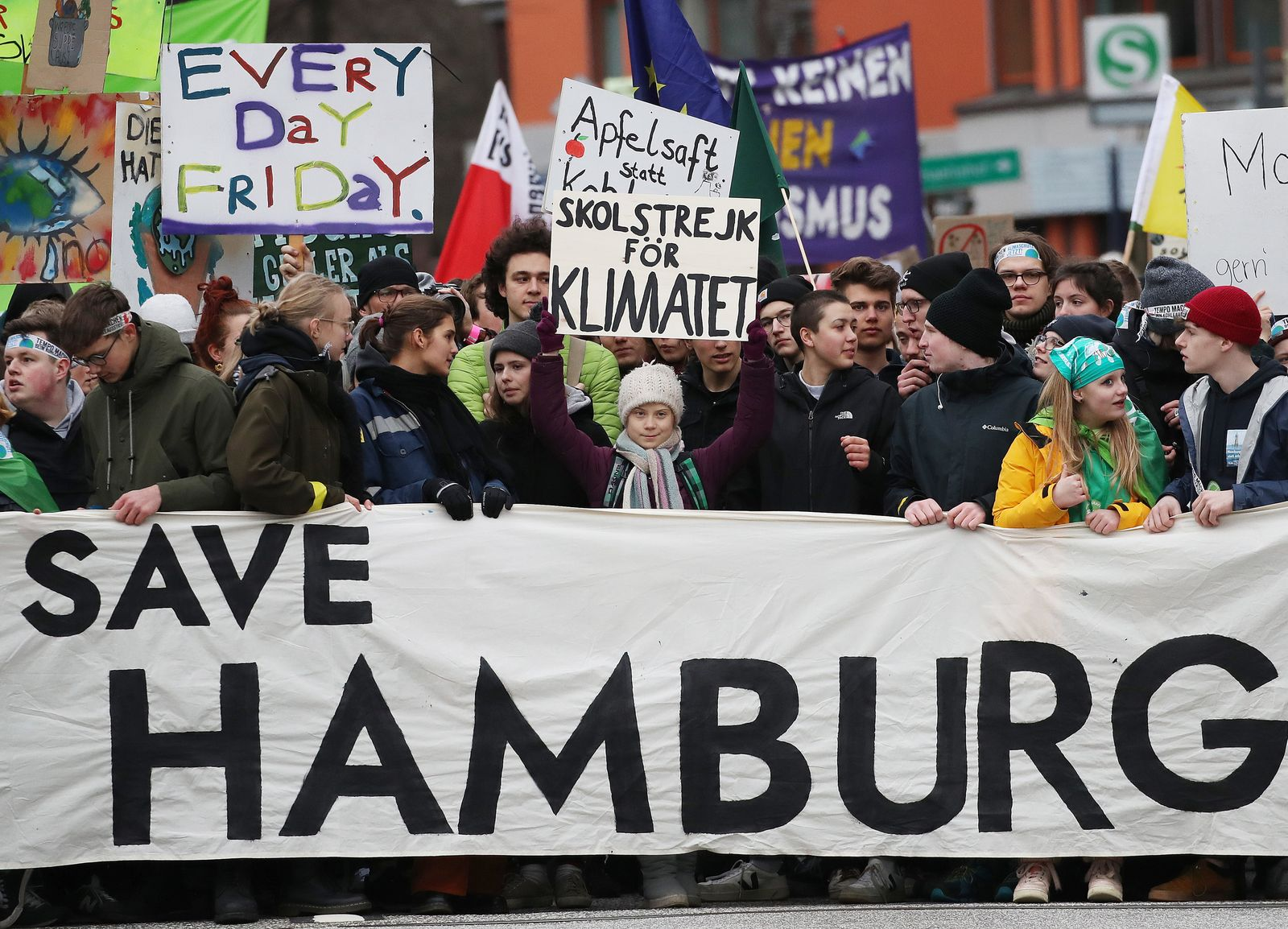 Demonstration von Fridays for Future in Hamburg