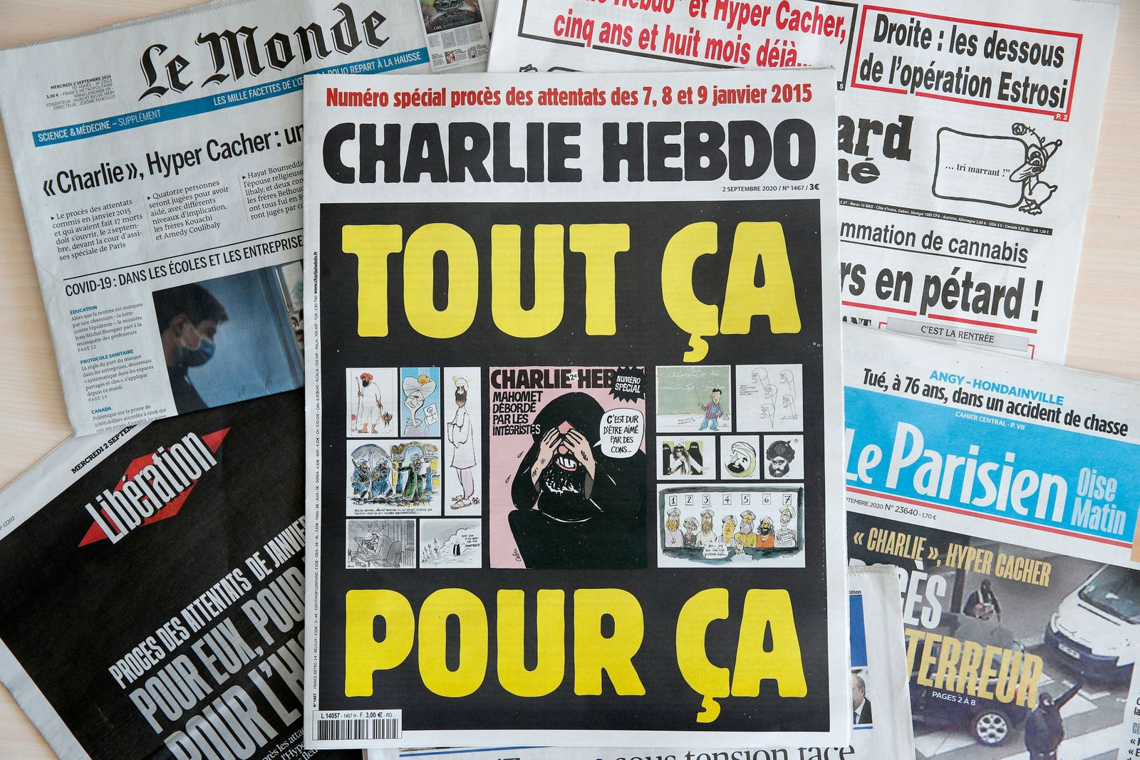 Charlie Hebdo attacks trial in Paris, France - 02 Sep 2020