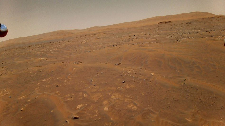 The surface of Mars photographed from a special helicopter