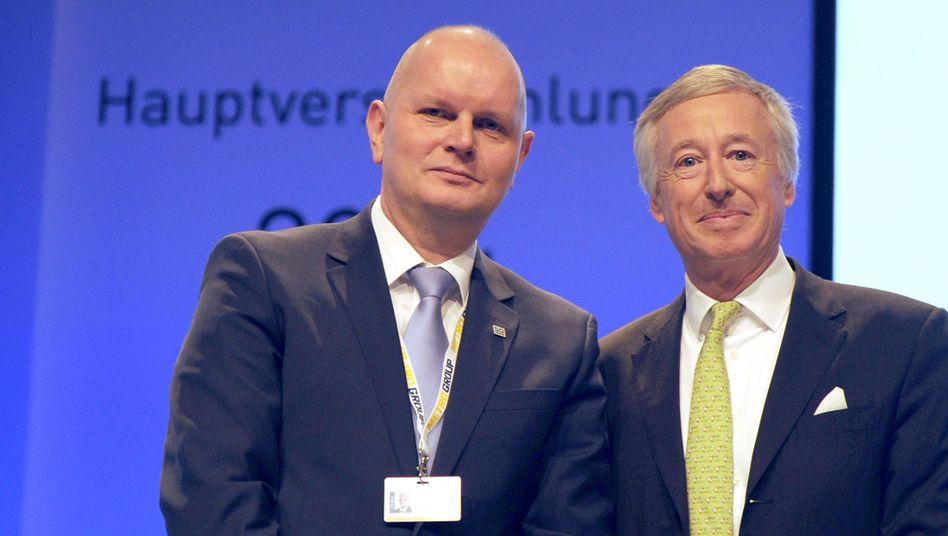 Aufsichtsratschef Haniel (r.) mit Metro-Vorstandschef Koch: Machtwechsel kommt