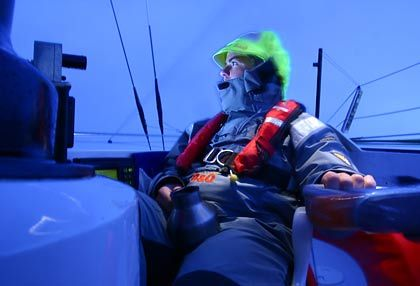 Ellen MacArthur has been battling waves by herself for 45 days. She has at least 25 to go.
