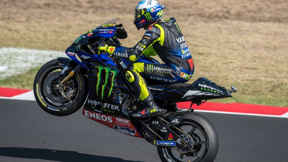 Auf ins Glück: Valentino Rossi bleibt der MotoGP noch mindestens ein Jahr erhalten