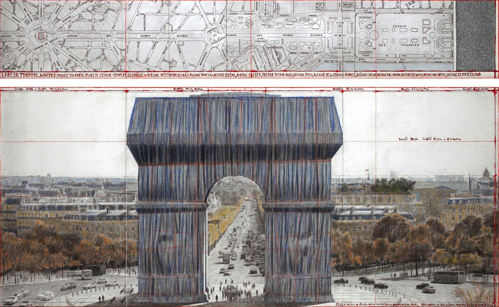 L'Arc de Triomphe, Wrapped _ Exhibition at Centre Pompidou - L'Arc de Triomphe, Wrapped (Project for Paris) Place de l'Etoile – Charles de Gaulle (4)-1