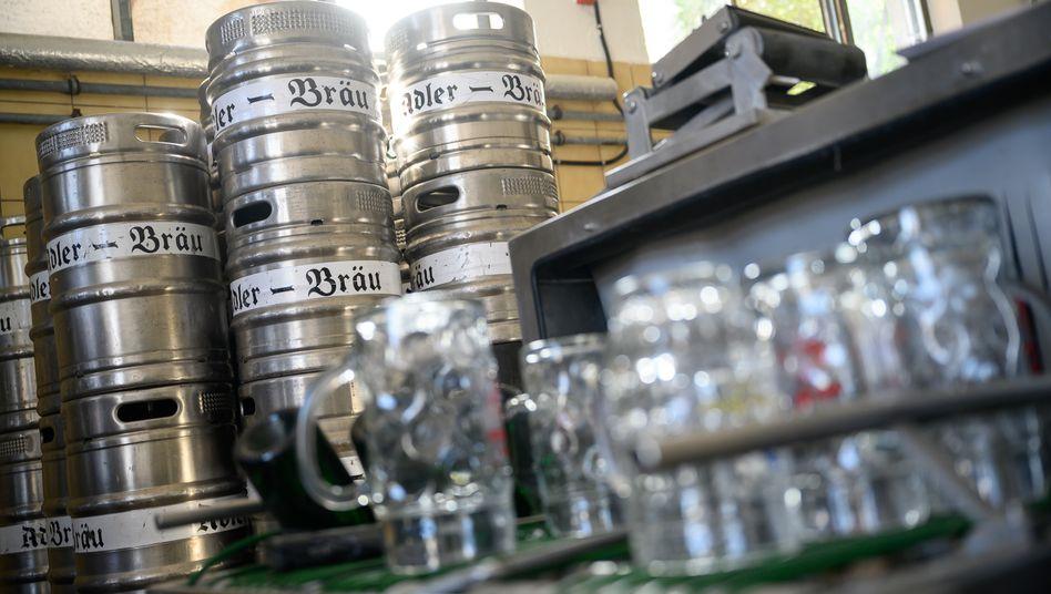 Bierfässer werden in der Pandemie deutlich seltener geleert