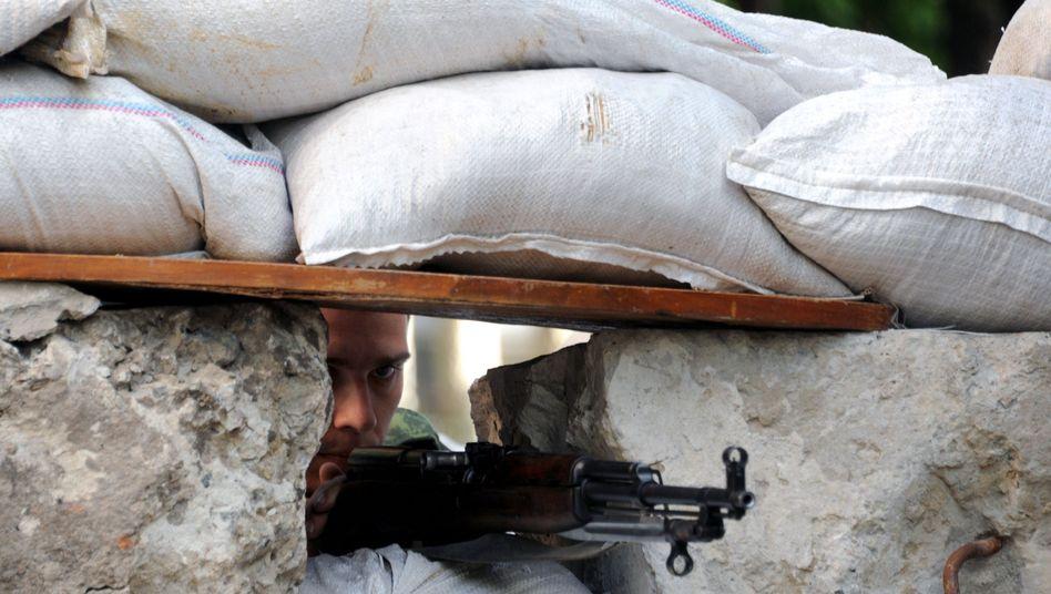 Rebellenhochburg Slowjansk: Andrea Ronchelli hielt sich in der Nähe der Stadt auf