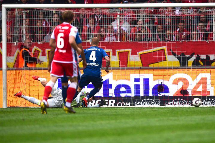 HSV-Keeper Julian Pollersbeck konnte den Rückstand nicht verhindern