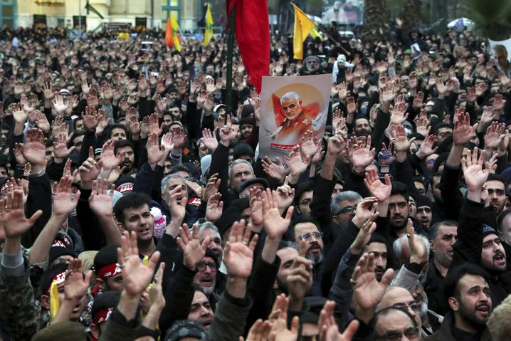 A demonstration in Tehran on Jan. 3 following Soleimani's killing: Soleimani had been popular in his life, but with his death, he has become a popular hero.