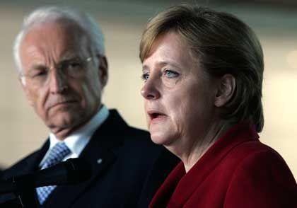 CSU-Chef Stoiber, Kanzlerin Merkel: Skeptische Töne aus dem Süden