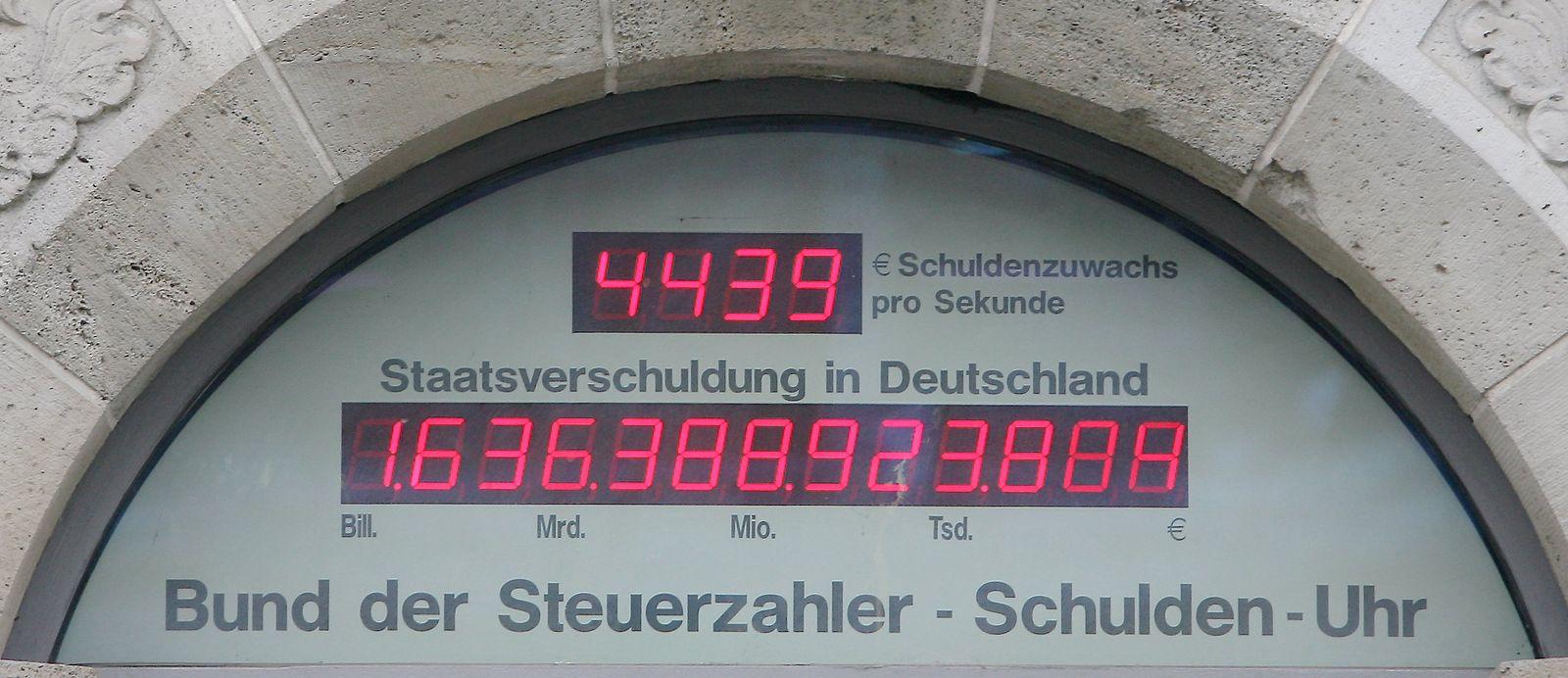 Schuldenuhr in Berlin