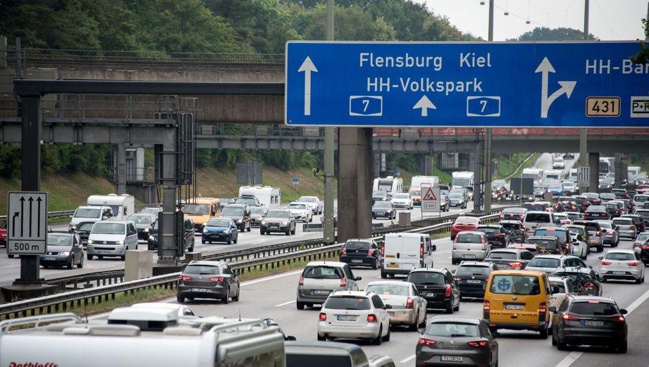 Autobahn in Richtung Küste: Hier dürfte es voll werden
