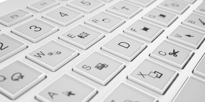 Tastatur: Die Tasten sollen aus winzigen E-Ink-Displays bestehen