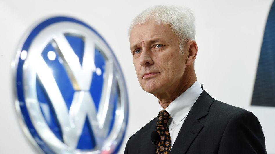 Volkswagenchef Müller (in Detroit): Kühle Abfuhr von der US-Umweltbehörde