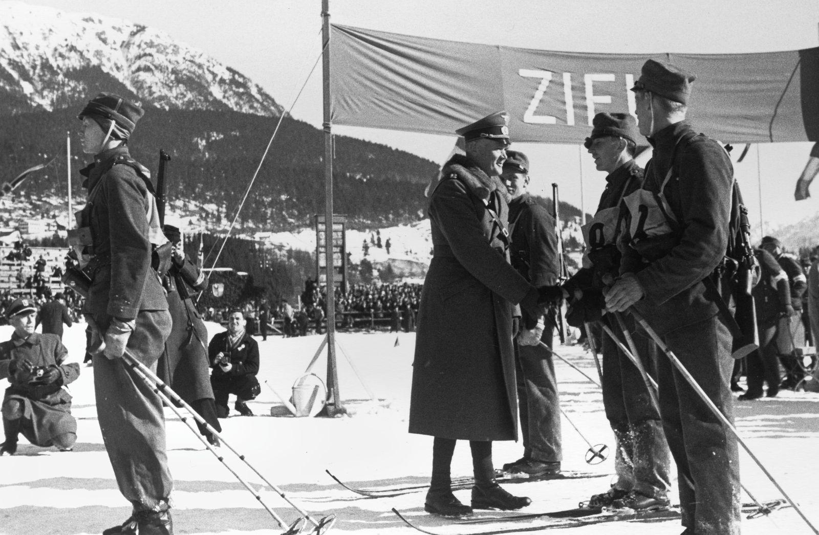 Olympische Winterspiele 1936: Vorführungswettbewerb Militär-Ski-Patrouille
