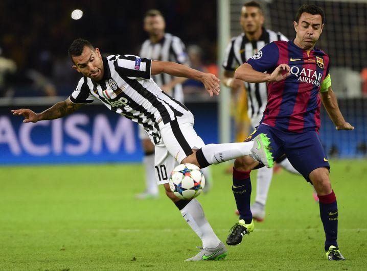CL-Finale gegen Barcelona: Tévez lieferte die Vorarbeit zum zwischenzeitlichen 1:1