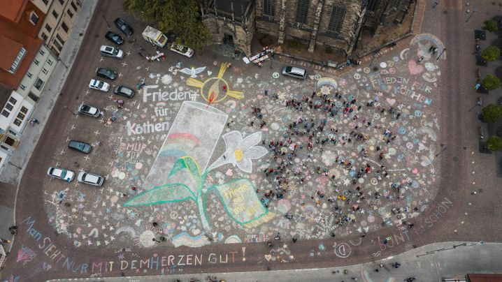 Sachsen-Anhalt: Köthen rüsten sich für Demos
