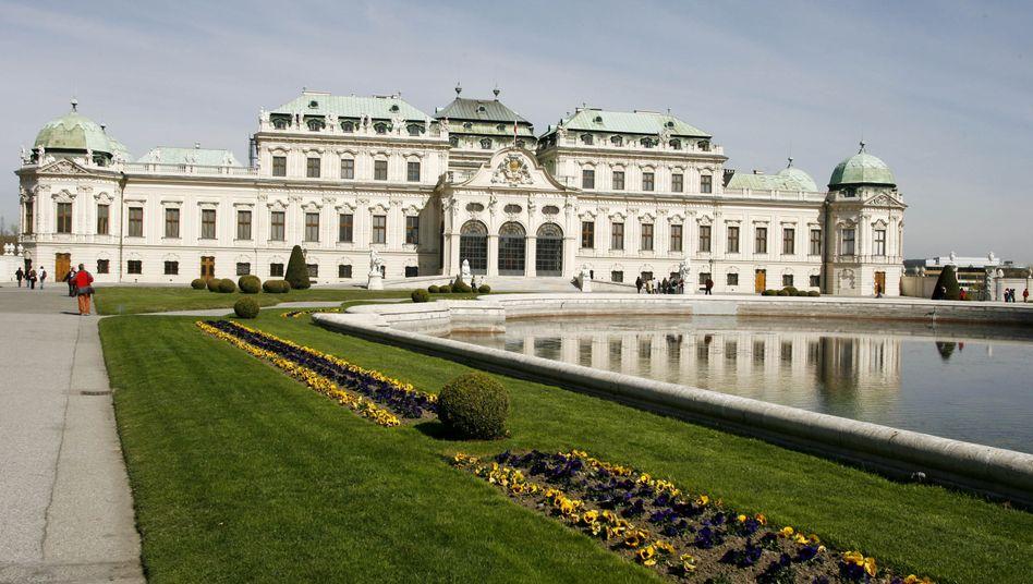 Das Schloss Belvedere in Wien: Auch hier klingelte der Gerichtsvollzieher