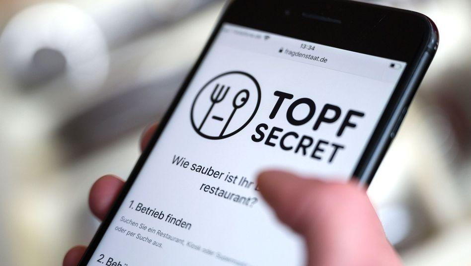 """Onlineplattform """"Topf Secret"""": Mit wenigen Klicks Hygiene-Kontrollberichte anfordern"""
