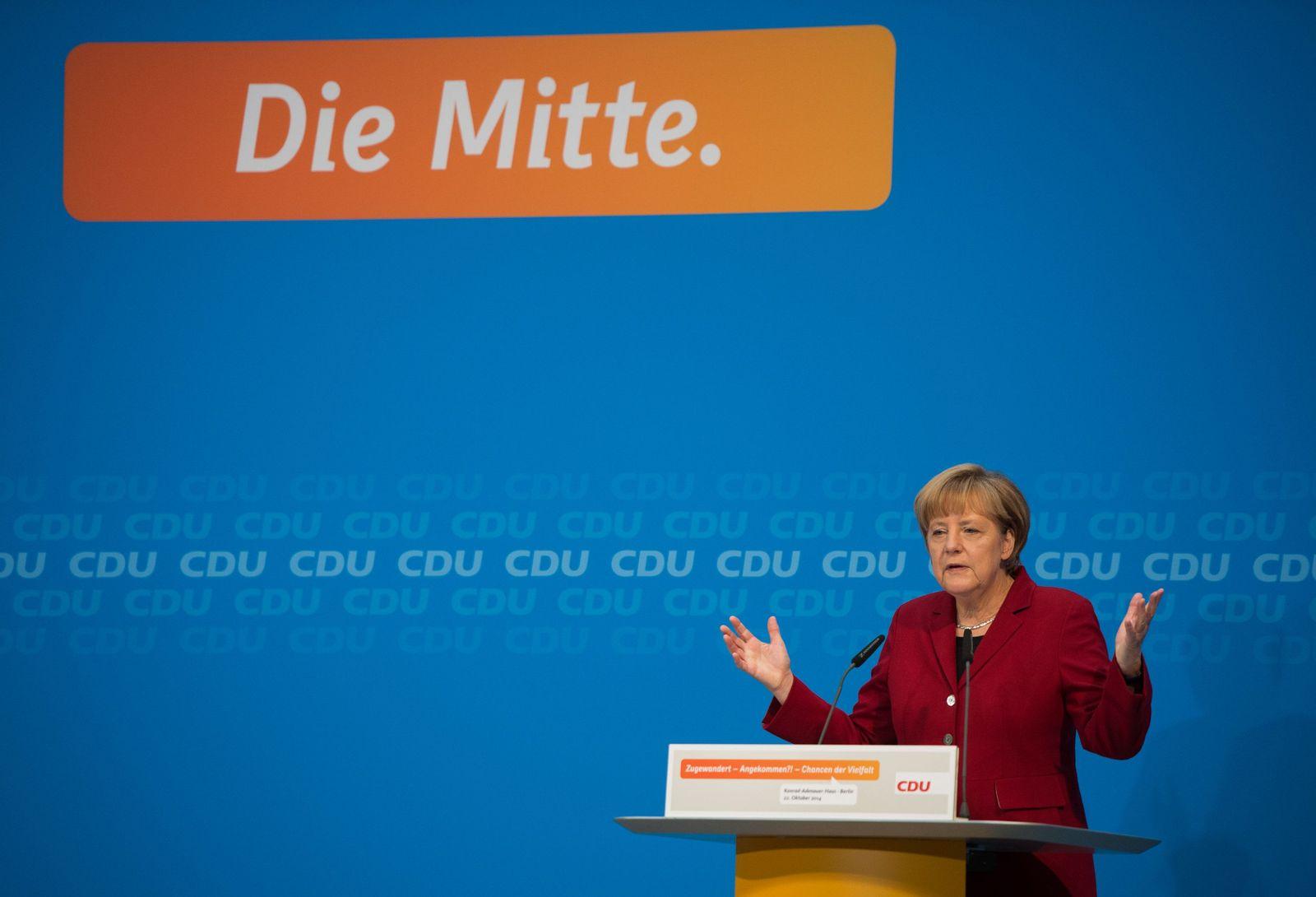 CDU-Konferenz mit Angela Merkel (CDU)