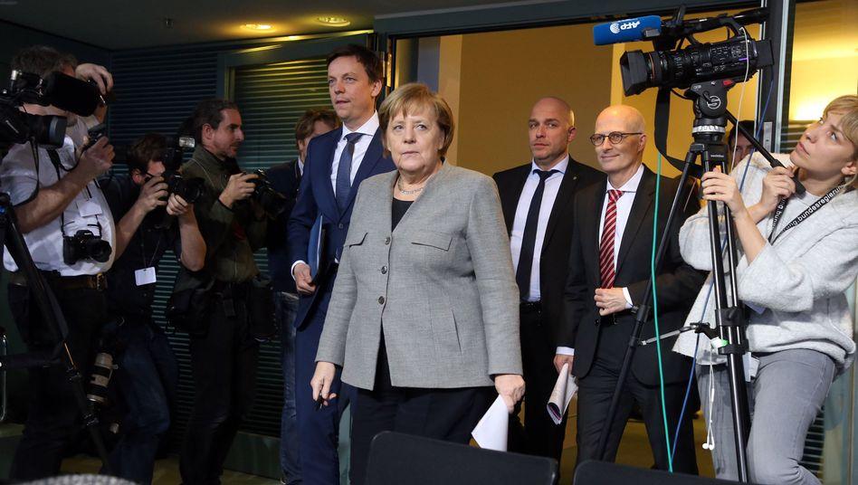 Angela Merkel auf der Ministerpräsidentenkonferenz
