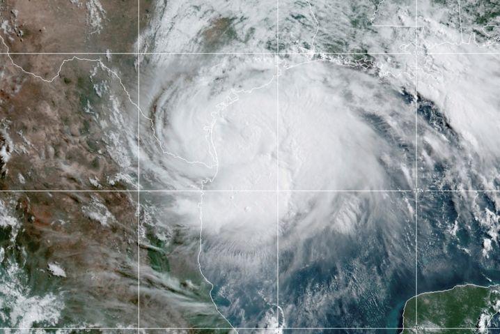 """Hurrikan """"Hanna"""" über dem Golf von Mexiko am 25. Juli 2020"""