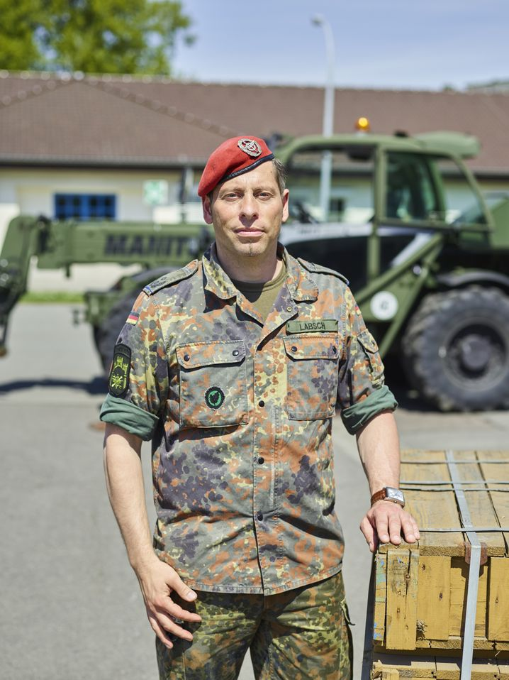 Logistics officer Michael Labsch of the Bundeswehr