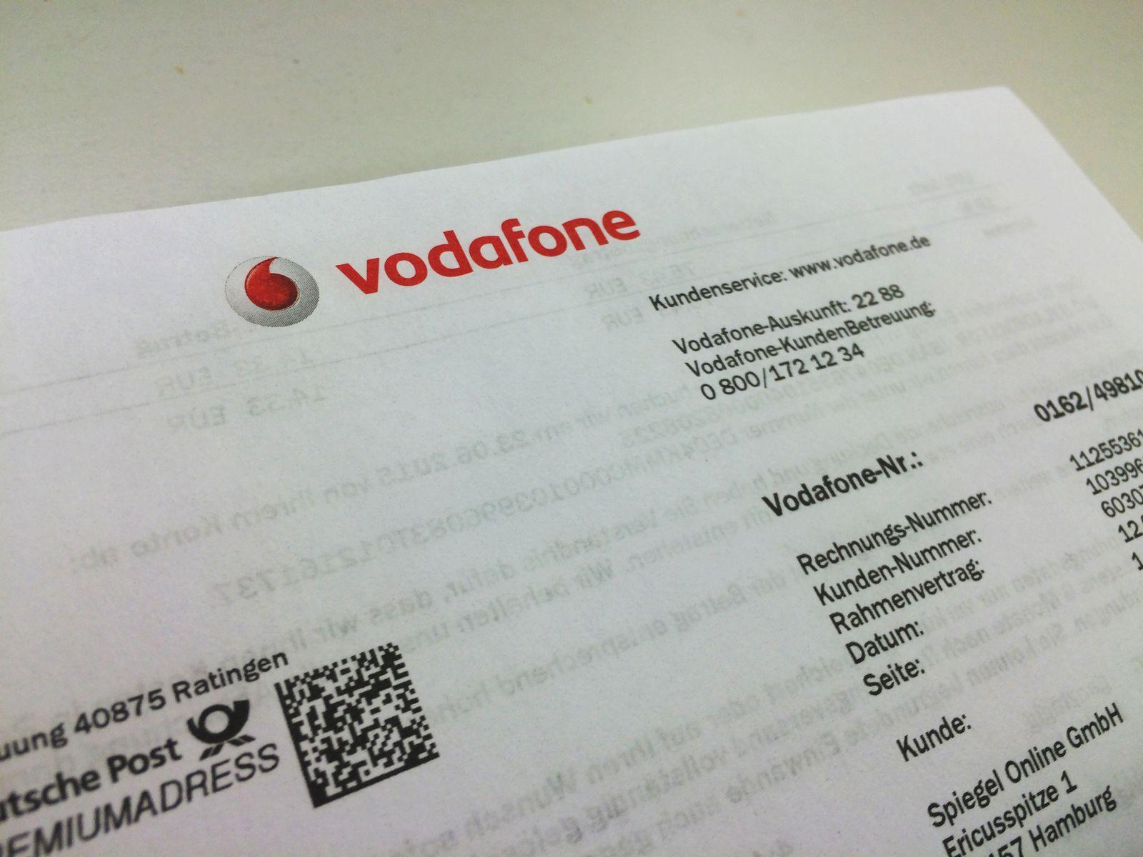 Vodafone Handy-Rechnung