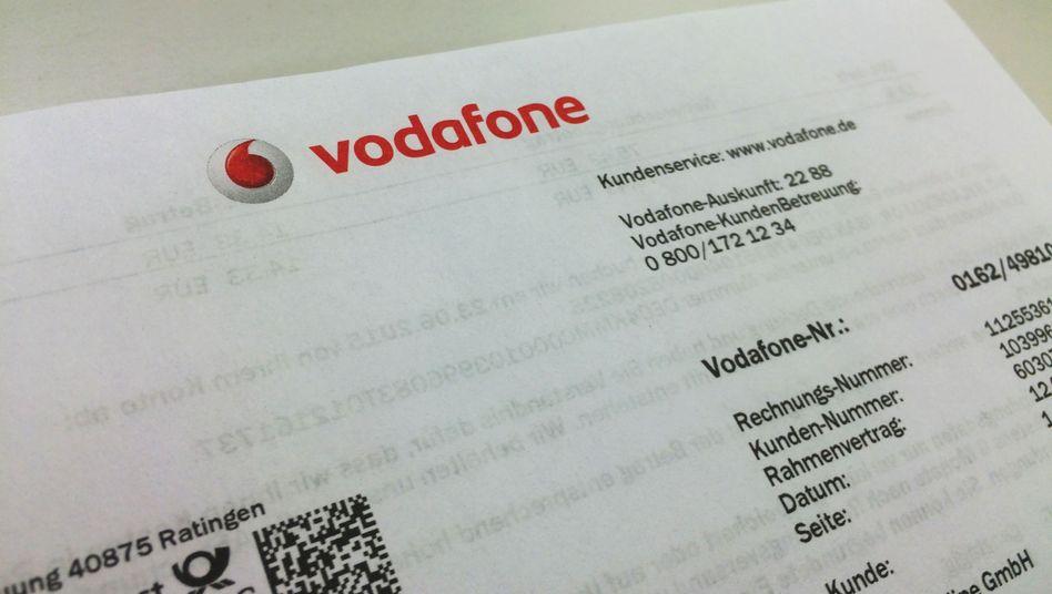 Vodafone-Mobilfunkrechnung: Fehlerhafte Abrechnungen