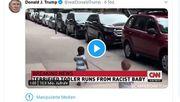 Twitter kennzeichnet Trump-Tweet erneut mit Warnhinweis
