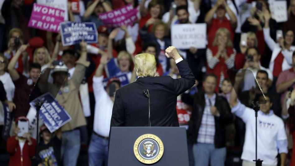 Donald Trump auf einer Wahlkampfveranstaltung in Houston, Texas