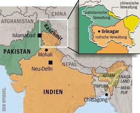 Krisenregion Kaschmir: zwei von drei Kriegen zwischen Indien und Pakistan wurden um diese Region geführt