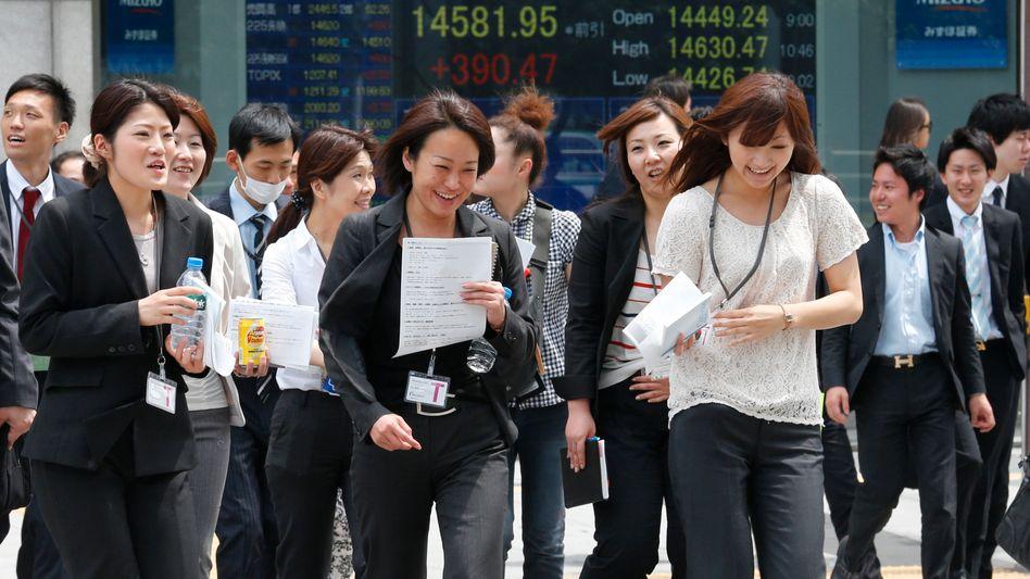 Geschäftsviertel in Tokio: Der Aktienboom befeuert die Kauflust der Verbraucher