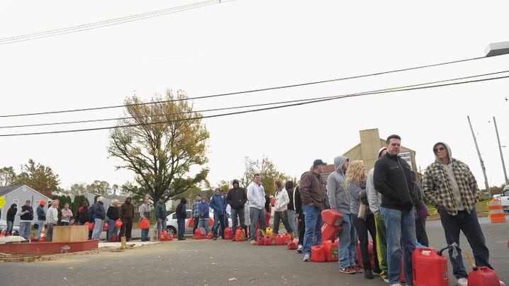 """US-Ostküste nach """"Sandy"""": Benzin für das Krisengebiet"""