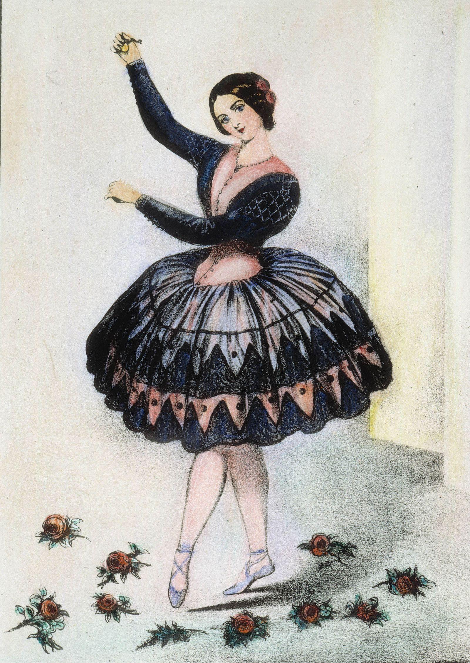 LOLA MONTEZ (1818-1861). NÈe Marie Dolores Eliza Rosanna Gilbert. Irish dancer and adventuress. Lithograph, 1851, by Nathaniel Currier.