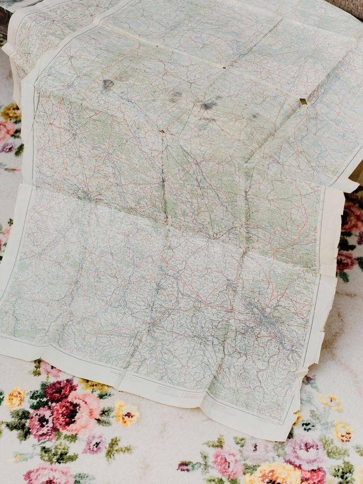 """Pudows Artillerielandkarte von 1945: """"Wo ist der Gegner? Wo sollen wir hinschießen?"""""""